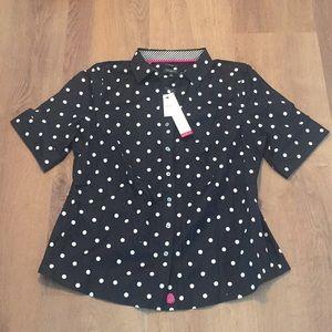 Talbots short sleeved blouse